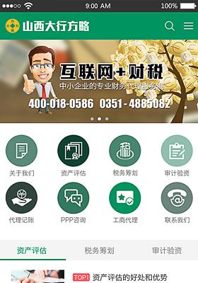财税咨询网站模板